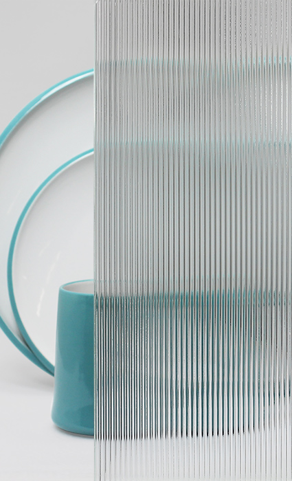 Decorative Cabinet Glass European Clear Corduroy