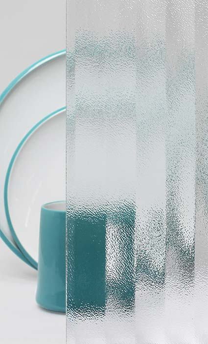 Decorative Cabinet Glass European Frosted Fluted
