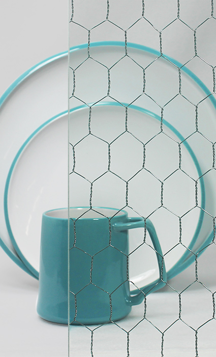 Decorative Cabinet Glass - Clear VintageWire™