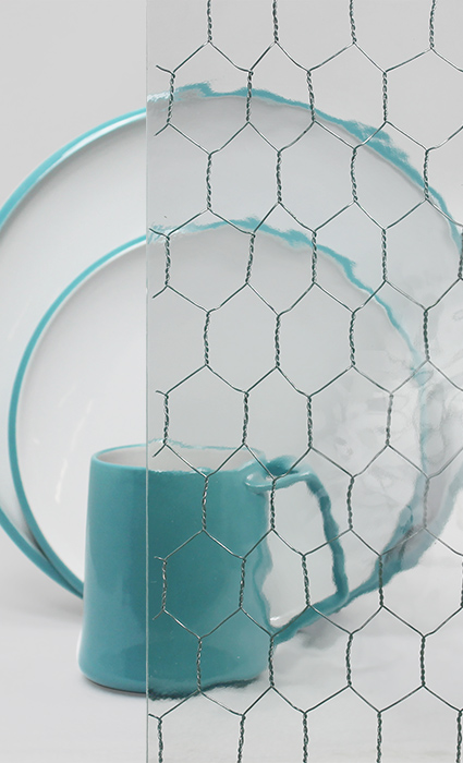 Decorative Cabinet Glass - Wavy VintageWire™
